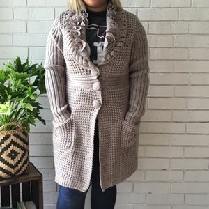 Dressbarn Collection | Chunky Knit Long Cardigan
